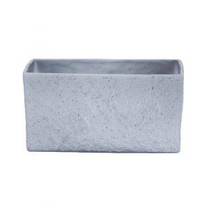 Pot céramique rectangulaire – Grey Stone