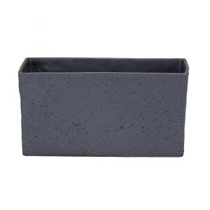 Pot céramique rectangulaire – Graphite Stone