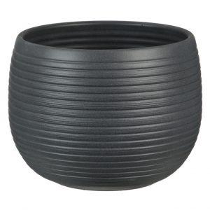 Cache-pot rond naturel – Graphite Stone