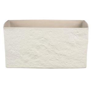 Pot céramique rectangulaire – Cream Stone
