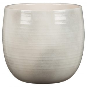 Cache-pot arrondi – Glazing white