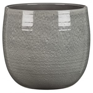 Cache-pot arrondi – Glazing Grey