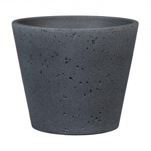 Cache-pot texturé pierre – Dark Stone