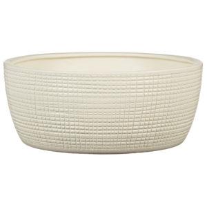 Pot céramique texturé -Vanilla