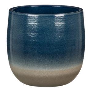 Cache-pot arrondi – Blue Allure