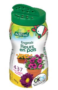 engrais naturel fleurs en pots 4-3-7 Acti-Sol