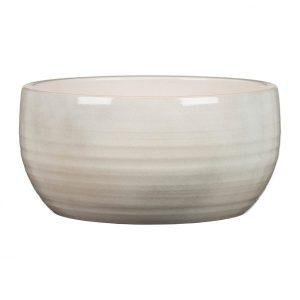 Pot céramique  fini glacé – Glazing White