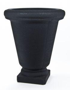 Urne Bell rond plastique noir