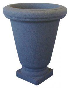 Urne Bell rond plastique gris