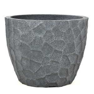 Pot prisma rond plastique gris