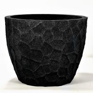 Pot prisma rond plastique noir