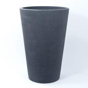 Pot linea plastique gris