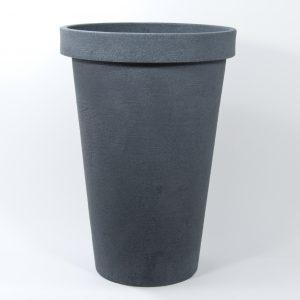 Pot Rose rond plastique gris