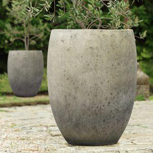 Pot Gio-Jardin haut ciment