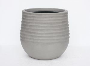 Pot stone lite rond gris