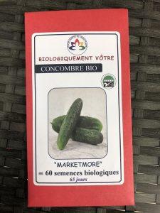 Concombre «Marketmore» – Bio