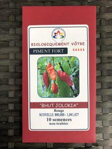 Piment Fort «Bhut Jolokia» rouge – non traité