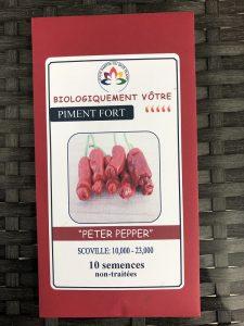 Piment Fort «Peter Pepper» rouge – non traité