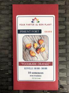 Piment Fort «Pockmark» orange – non traité