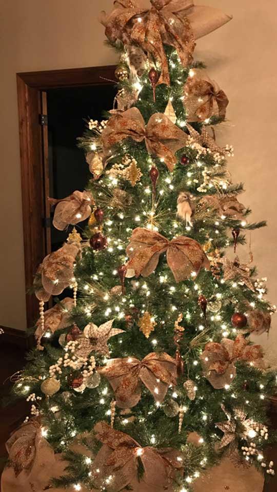 Décoration de sapin de Noël maison