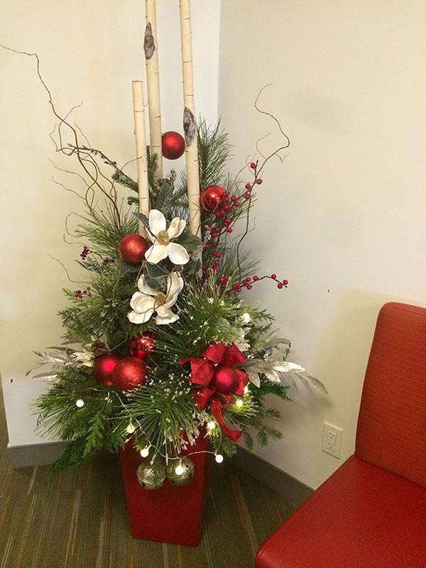 Pot décoratif de Noël intéerieur