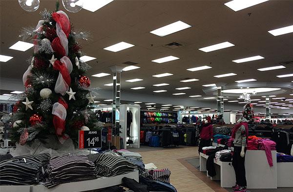 Décoration de Noël pour magasins