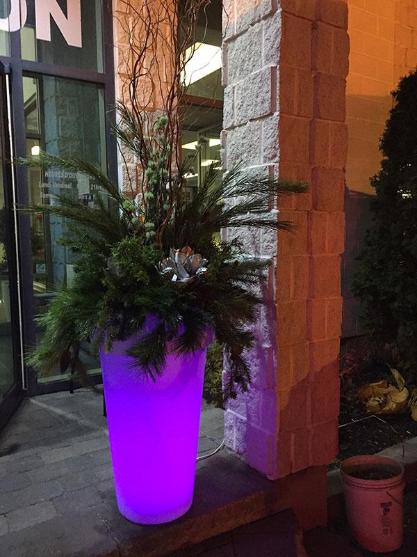 Pot lumineux pour décorations de Noël