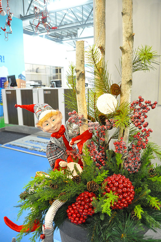 Pot pour décoration de Noël lutin coquin