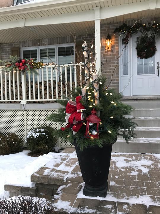 Décorations de Noël extérieures en pot