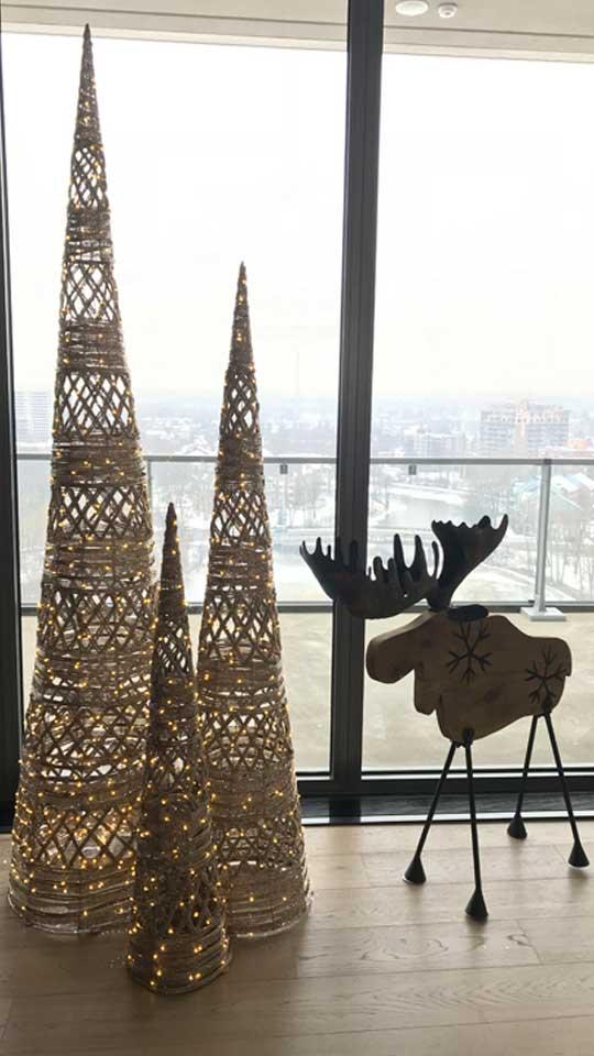 Décorations de Noël en vitrine