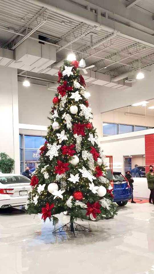 Installation d'arbre de Noël géant