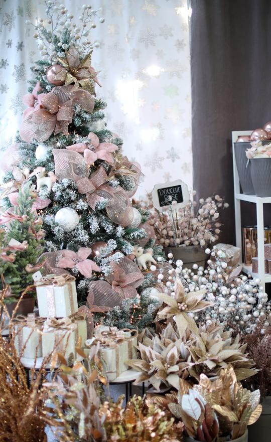 Arbre de Noël artificiel rose gold